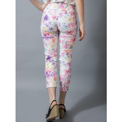 Robell Multicolour Floral Limited Edition Trousers in the Rose 09 shape available on colmershill.com