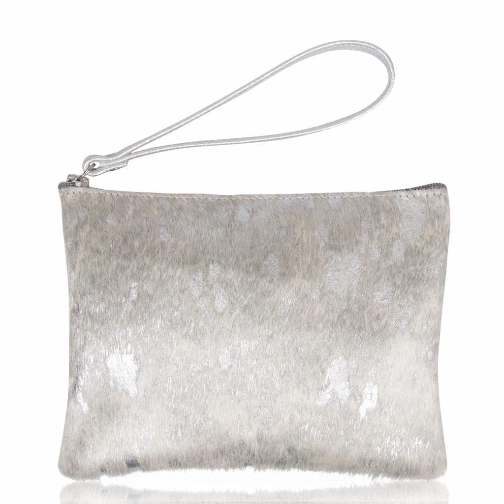 Owen Barry Silver Clutch Bag by Colmers Hill Fashion