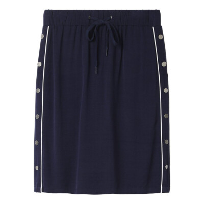Sandwich navy straight jersey skirt available on colmershill.com