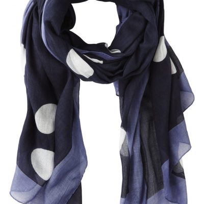 Sandwich Large Spot Navy Scarf available at colmershill.com