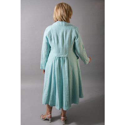 Out of Xile Linen Coat 20P in aqua green for a special occasion available from colmershill.com