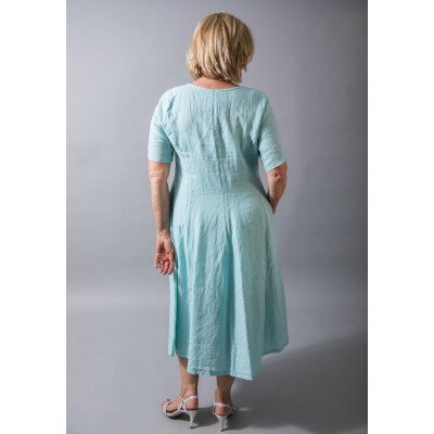 Out of Xile Linen Dress 24P in Aqua Green available at colmershill.com