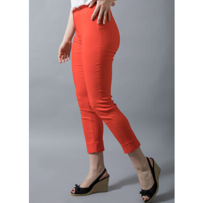 Robell Rose 09 Trousers 7/8 length in orange available on www.colmershill.com