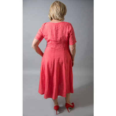Out of Xile Linen Midi Dress 24P in Tangerine available at colmershill.com