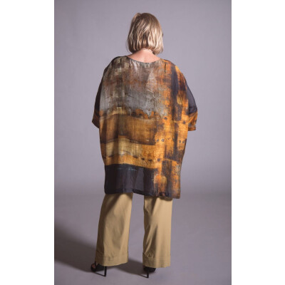 Raga Aruni silk tunic is hand printed using traditional techniques and is available on colmershill.com