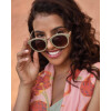 Powder Accessories Megan sunglasses in olive green have a retro style, available on colmershill.com