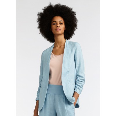 Sandwich Forget-Me-Not Linen Jacket has ruched sleeves and is available from colmershill.com