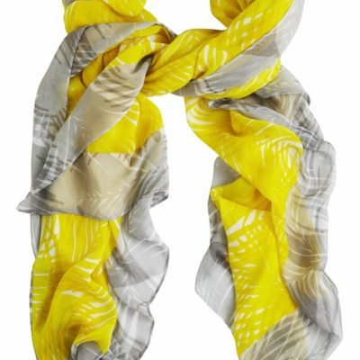 A zesty Sandwich summer scarf in Blazing Yellow available on colmershill.com