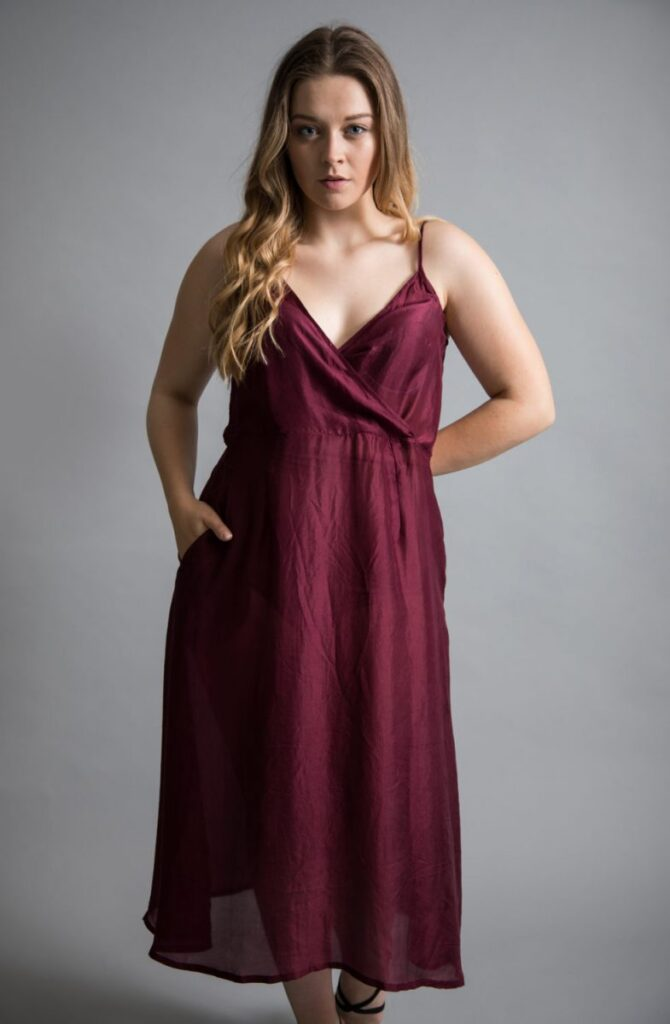 b2caf3a8b96 Yavi silk slip dress in a luxurious wine colour available at colmershill.com