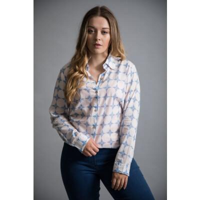 Luella Trinidad Boyfriend Shirt in Blue available on colmershill.com
