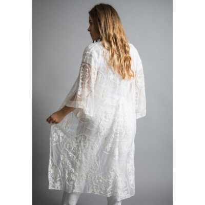 Luella White Lace Beach Wrap available on colmershill.com