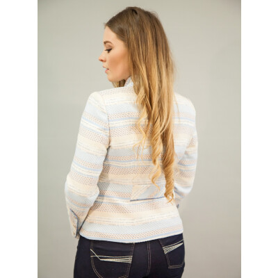 Bariloche Cedro Tweed Stripe Jacket in pale blue available on colmershill.com