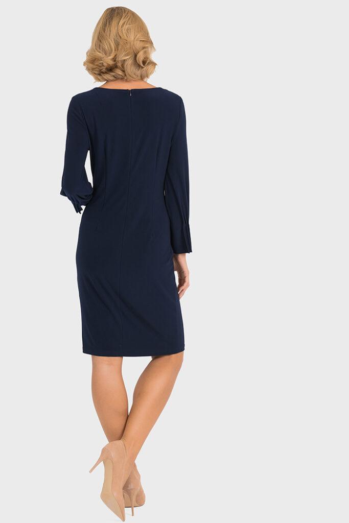 Joseph Ribkoff Pleated Cuff Dress Black ⋆ Colmers Hill Fashion