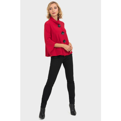 Joseph Ribkoff Red Short Swing Jacket