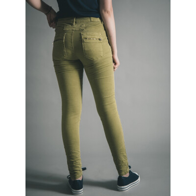 Melly & Co 5 Button Stretch Jeans Apple Green available on colmershill.com