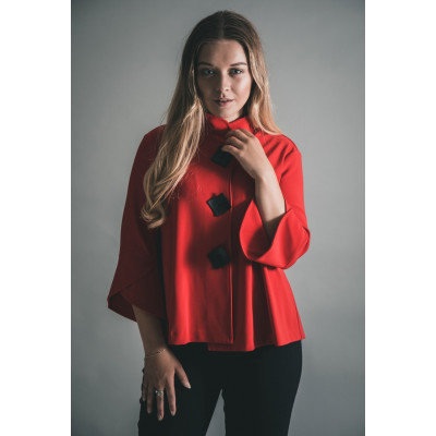 Joseph Ribkoff Red Short Jacket available from colmershill.com