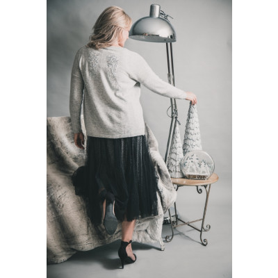 Luella silver grey Angels Wings cashmere jumper available on colmershill.com
