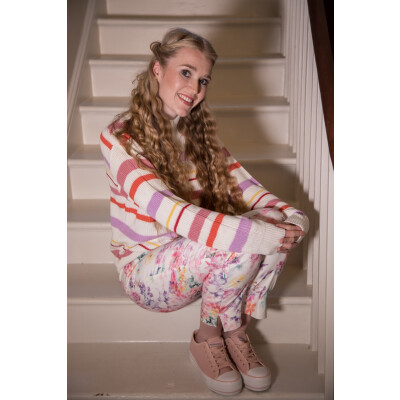Soaked in Luxury Ophelie Jumper with pastel stripes available from colmershill.com