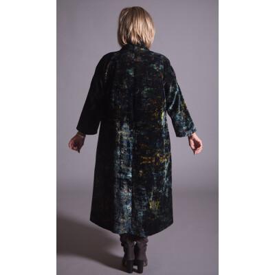 Yavi Midnight Silk Velvet Opera Coat available on colmershill.com