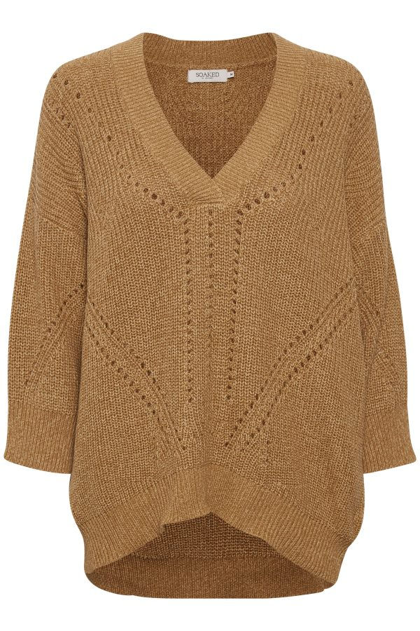 Soaked in Luxury Oceane Jumper available in navy and pecan on colmershill.com