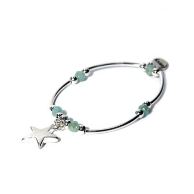 Envy silver star charm bracelet available on colmershill.com