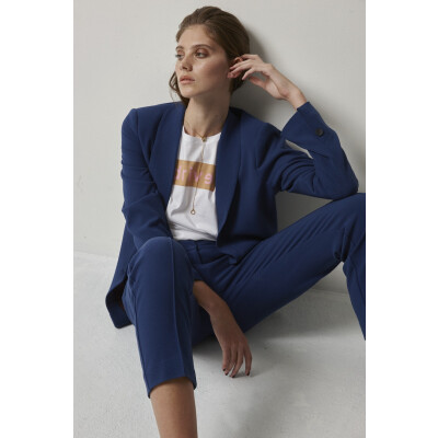 Soaked in Luxury Hayley Jacket and trousers in Blue available on colmershill.com