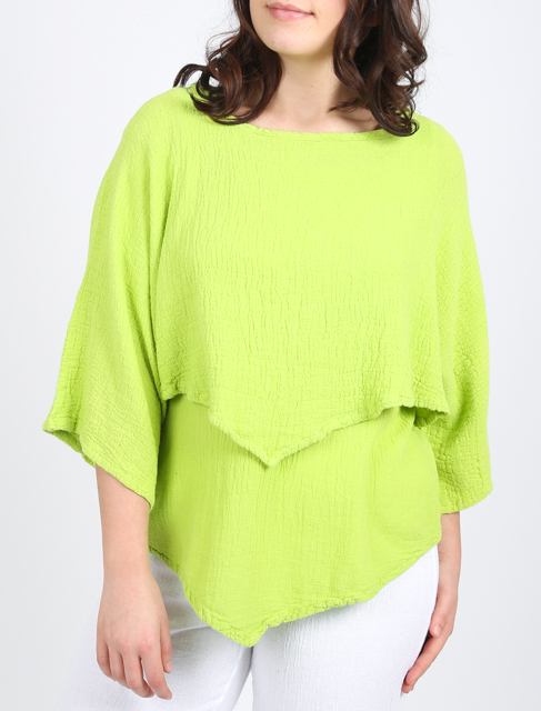 Onelife Vanna is a short cropped top with a V point at the front and back, available at colmershill.com