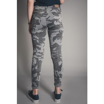 Melly & Co Stretch Jeans Grey Camouflage available on colmershill.com