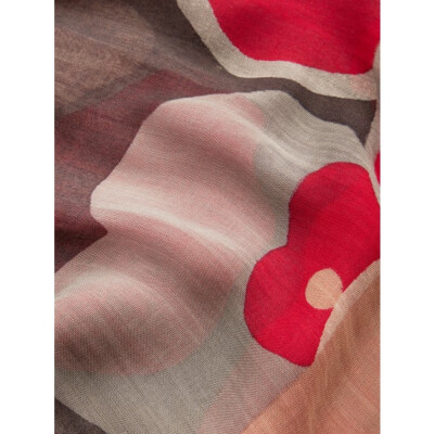 Sandwich Bold Flower Print Scarf Fuchsia available from colmershill.com