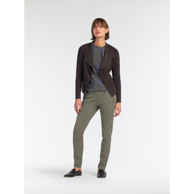 Sandwich Clothing faux suede biker jacket available in two colours from colmershill.com