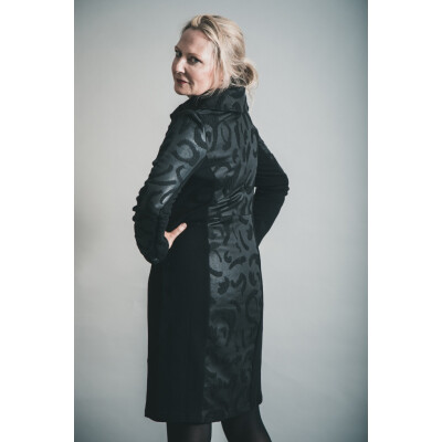 Elsewhere Hantas Lake Fitted Dress in Black available on colmershill.com