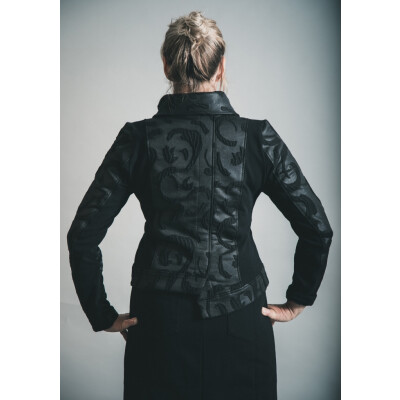 Elsewhere Hantas Lake Cropped Zip Jacket Black available on colmershill.com