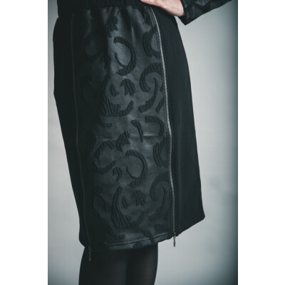 Elsewhere Hantas Lake Straight Zip Skirt Black availalble on colmershill.com