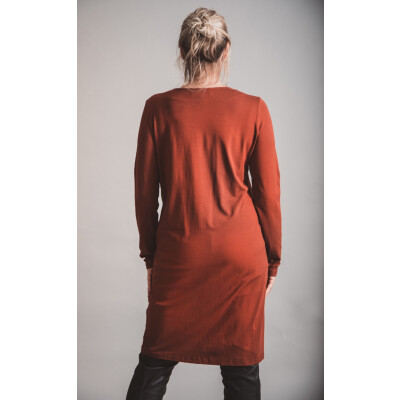 Elsewhere Jersey Shift Dress in Spicey Burnt Orange available on colmershill.com
