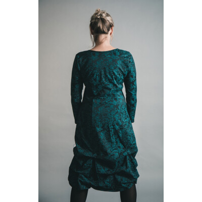 Out of Xile Jacquard Pinch Hem Dress Emerald available on colmershill.com
