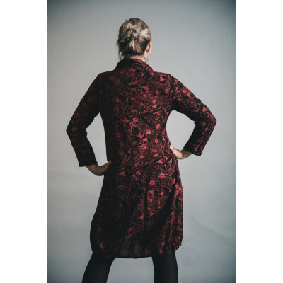 Out of Xile Embroidered Coat Dress Ruby available on colmershill.com
