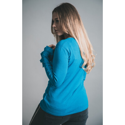 Marble Star & Frill Cuff Top Blue 5438_180 available on colmershill.com