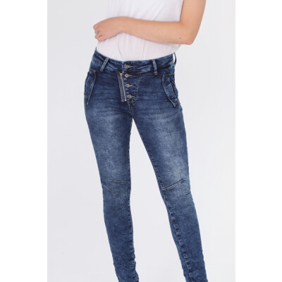 Melly & Co 5 Button Denim Jeans in stretch cotton available on colmershill.com