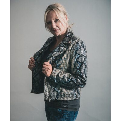 Rino & Pelle Milka Faux Snakeskin Jacket available on colmershill.com