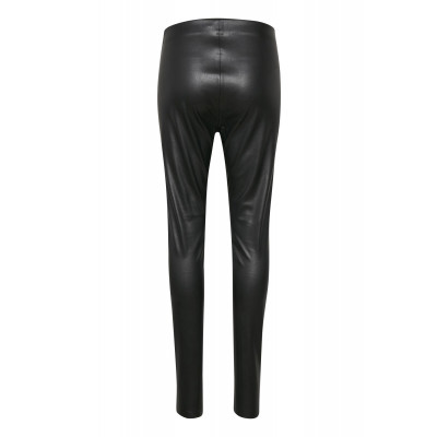 Soaked in Luxury Leather look leggings Black available at colmershill.com