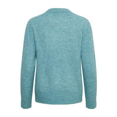 Soaked in Luxury Angel Crew Neck Jumper Smoke Blue available on colmershill.com