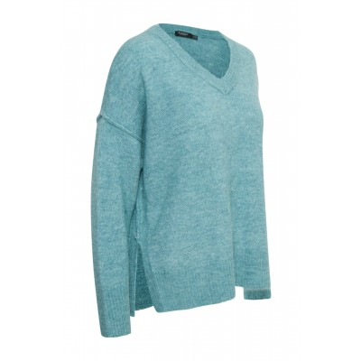 Soaked in Luxury Angel V-Neck Jumper Smoke Blue available on colmershill.com