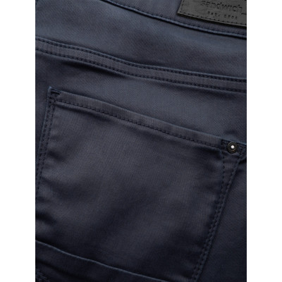Sandwich Night Blue Skinny Coated Trousers 24001584-40153 available on colmershill.com