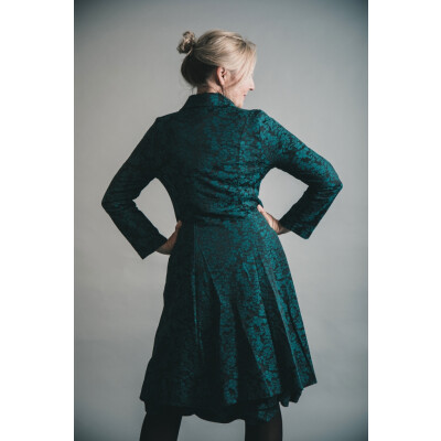 Out of Xile Jacquard Coat Emerald available on colmershill.com