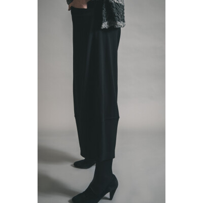 Ralston Omar Wide Leg Three Quarter Length Trousers Black available on colmershill.com
