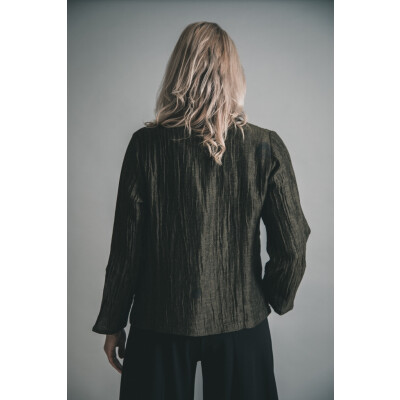 Ralston Anandi Linen Jacket in Olive Green available on colmershill.com