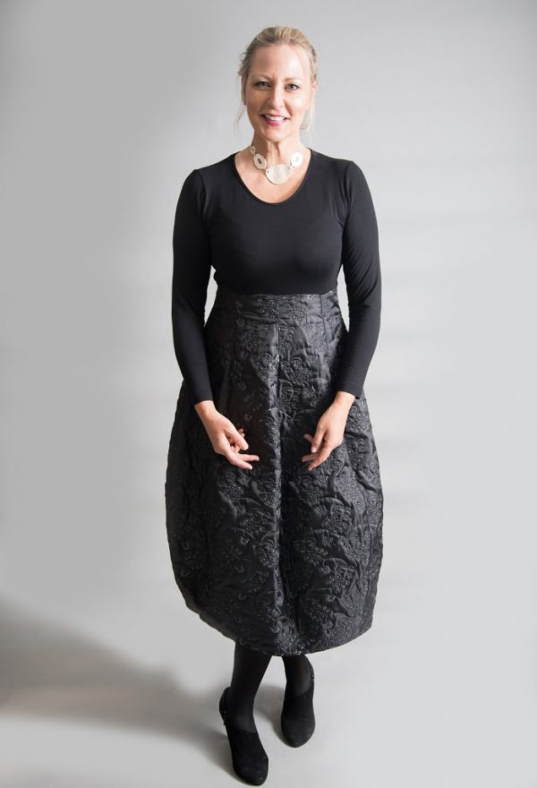 Out of Xile Bell Dress Quilted Embroidery Black available on colmershill.com