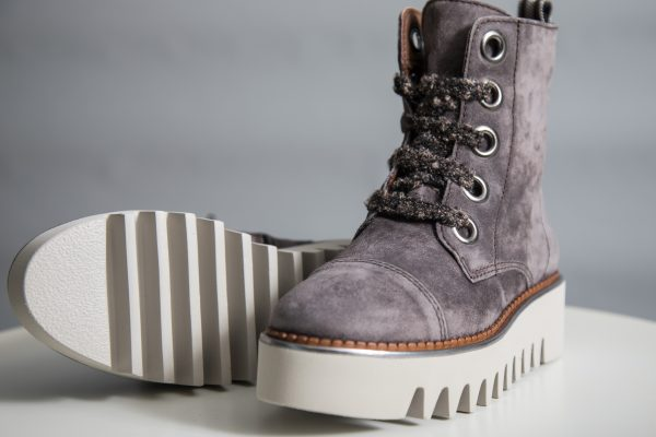 Alpe lace-up creeper ankle boots in mole suede available on colmershill.com