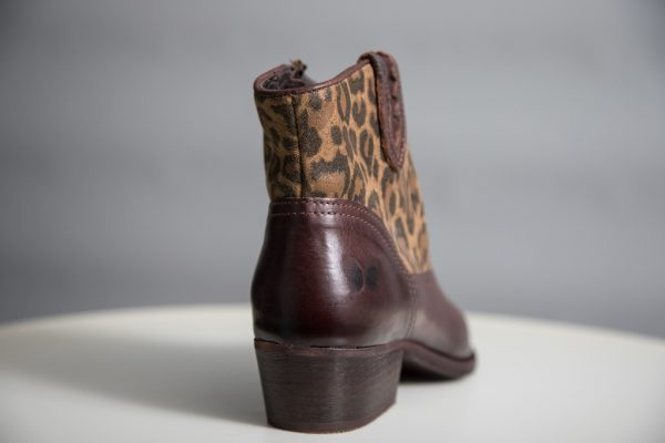 Felmini Chocolate Brown Leopard Print Cowboy Boots available on colmershill.com