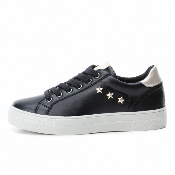 Refresh Black Trainers 6934402 with a star stud detail available from colmershill.com